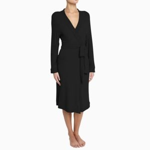 NWT EBERJEY | COZY TIME RIBBED BLACK ROBE